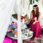 Orientalische Hochzeitsinspiration in lebendigen Farben