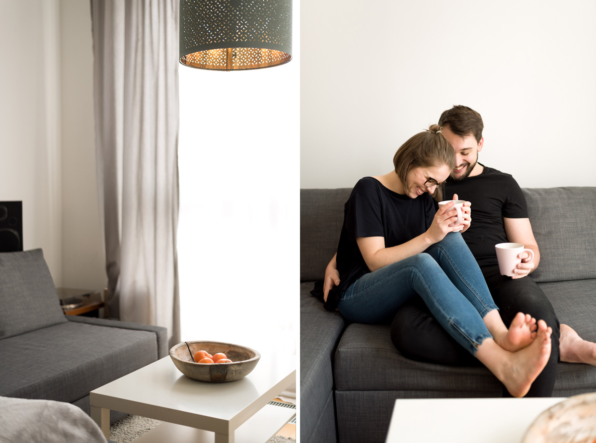 Entspannte und Natürliche Paarfotos Zuhause in Wien