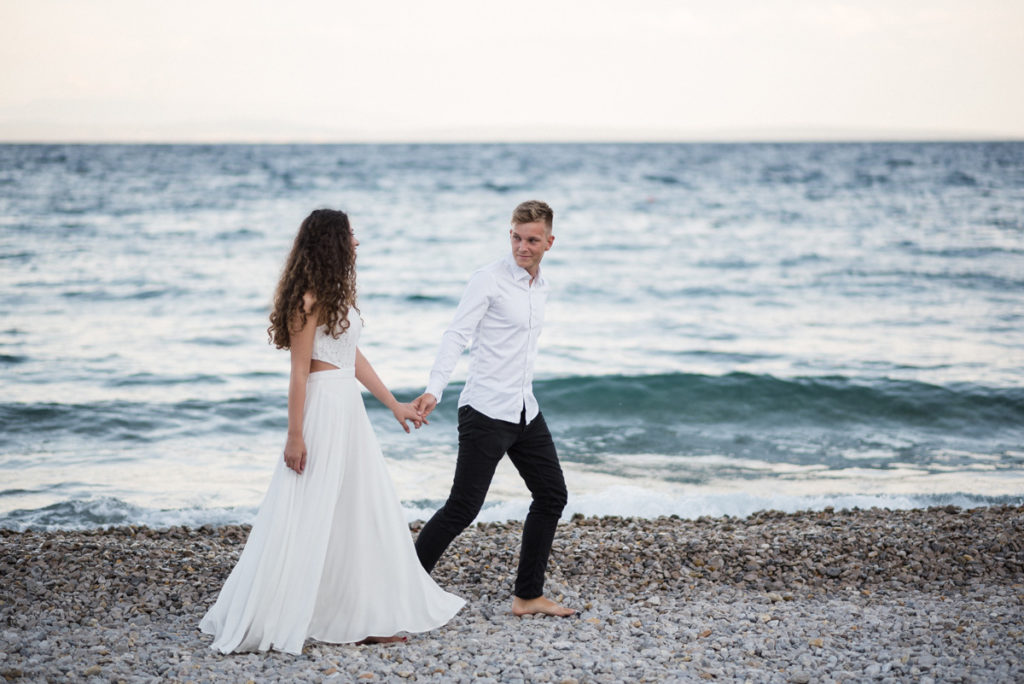 After Wedding Shoot by the sea in Opatija by Istrien Wedding Photographer